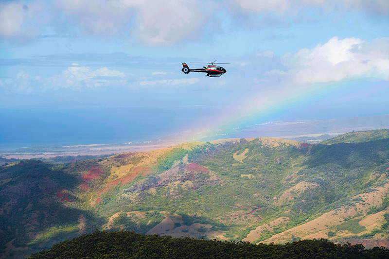 View from helicopter tour of Kauai
